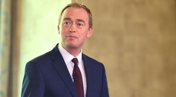 Tim Farron insisted pay increases in line with inflation must be brought in for public sector workers (David Mirzoeff/PA)