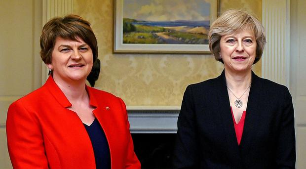 DUP leader Arlene Foster said she hopes to finalise a deal to prop up the minority Conservative Government (Charles McQuillan/PA)