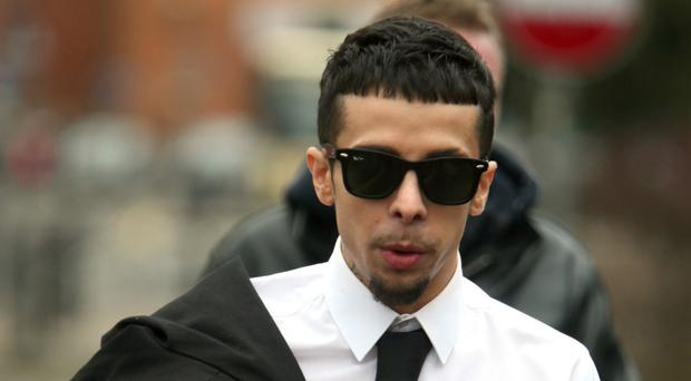 The former N-Dubz rapper was sentenced to nine months suspended for two years (Steve Parsons/PA)