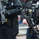 Armed police are more visible on British streets (Charlotte Ball/PA)