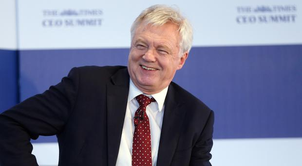 David Davis at The Times CEO Summit (Jonathan Brady/PA)