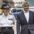 The Mayor of London Sadiq Khan and Met Police Commissioner Cressida Dick (Lauren Hurley/PA)
