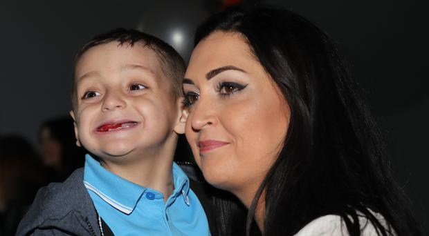 Bradley Lowery and his mother Gemma (Owen Humphreys/PA)