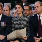 The Duke and Duchess of Cambridge and Prince Harry (Yui Mok/PA)