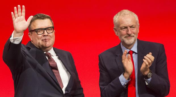 Labour leader Jeremy Corbyn and his deputy Tom Watson (Danny Lawson/PA)