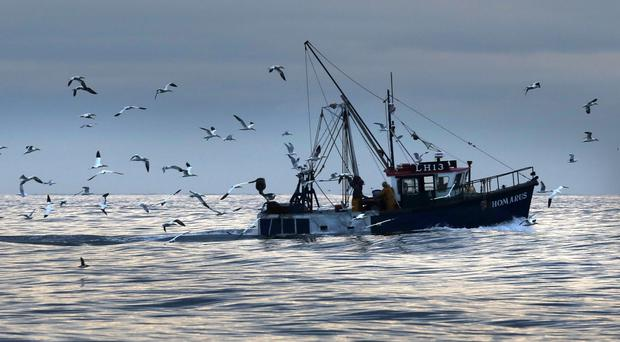 Fishing trawler off Scotland (PA)