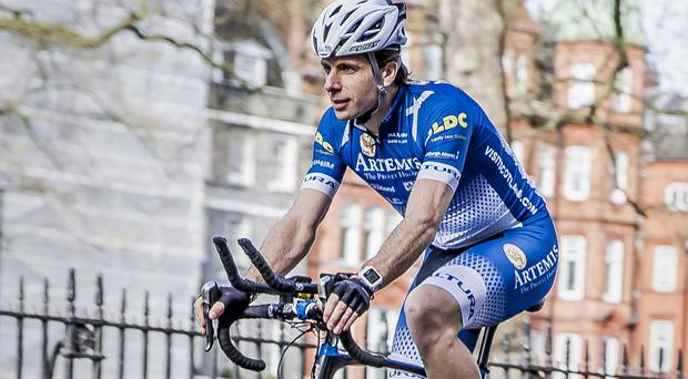 Mark Beaumont is attempting to regain the world record (Artemis World Cycle/PA)