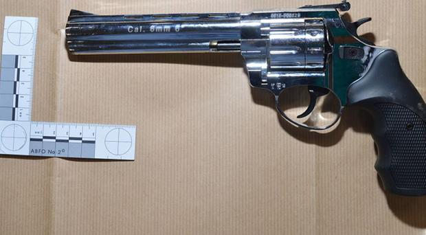 A gun from a massive haul recovered from a vehicle on the French side of the Channel Tunnel (NCA/PA)