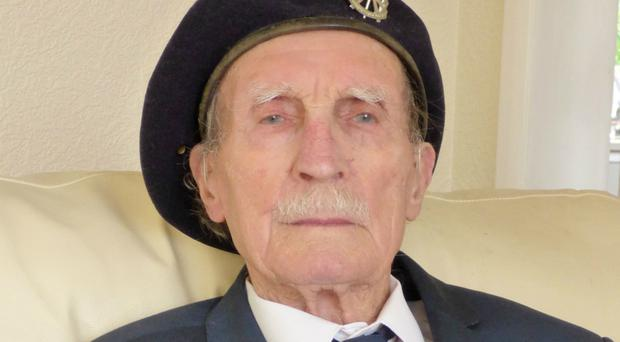Alfred Barlow, 96, from Stockport (Blind Veterans UK/PA)