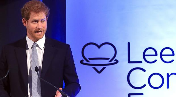 Prince Harry at the Leeds Leads: Encouraging Happy Young Minds event (Danny Lawson/PA)