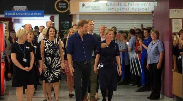 Prince Harry during a visit to Leeds Children's Hospital (Danny Lawson/PA)