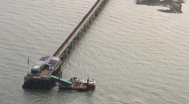 Firefighters are at Hythe Pier (PA)