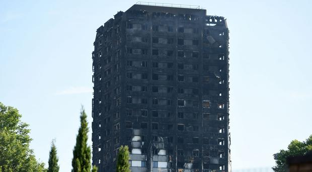 The burnt out Grenfell Tower in west London (David Mirzoeff/PA)