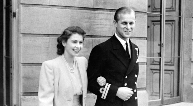 Princess Elizabeth and Lieutenant Philip Mountbatten announcing their engagement back in 1947 at Buckingham Palace