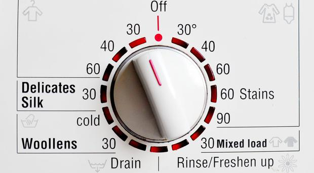 Washing clothes at lower temperatures is cutting carbon dioxide (Nick Ansell/PA)