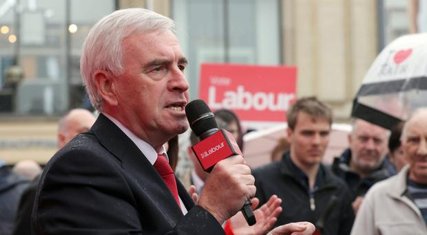 Shadow chancellor John McDonnell has written to all Conservative backbenchers (Chris Radburn/PA)