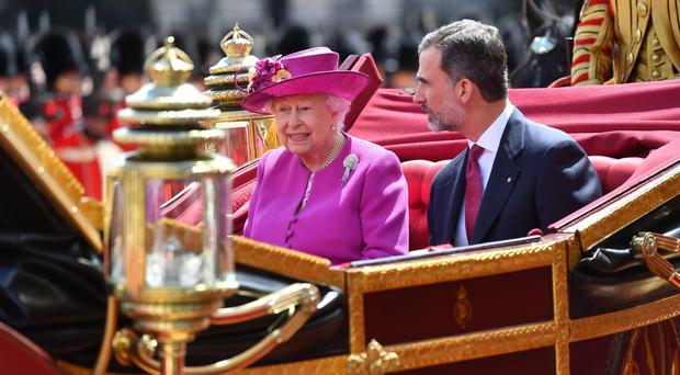 The Queen travelled with King Felipe VI of Spain (Nick Ansell/PA)