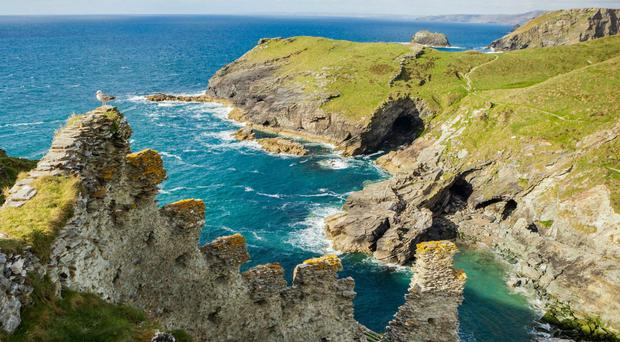 Tintagel is intricately bound up in the legend of King Arthur (Emily Whitfield-Wicks/English Heritage Trust/PA)