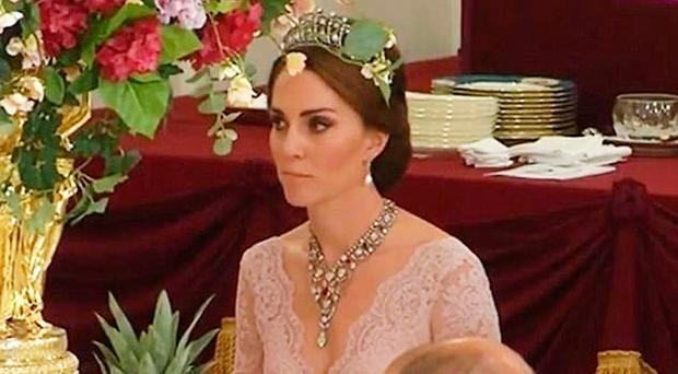 Daring Duchess of Cambridge Catherine dazzles in Diana's tiara