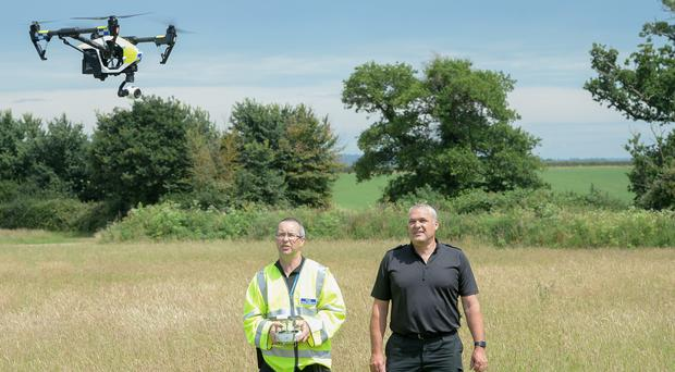 Devon and Cornwall and Dorset Police launch the first fully operational drone unit (Ben Birchall/PA)