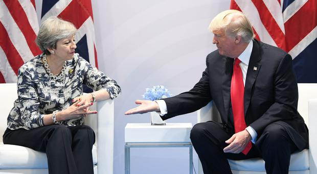 Theresa May recently met Donald Trump at the G20 summit in Hamburg (Stefan Rousseau/PA)