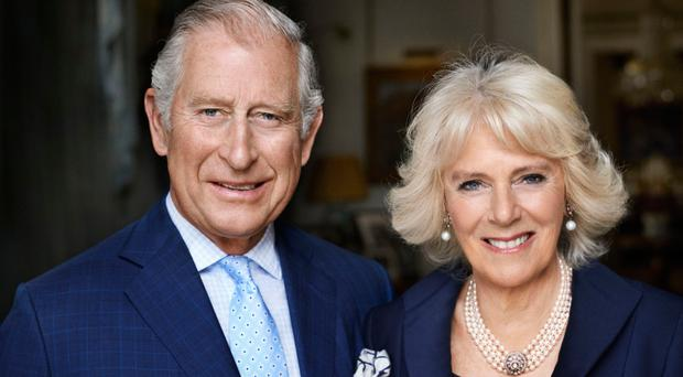 The photograph of the Prince of Wales and the Duchess of Cornwall