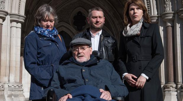 Noel Conway brings review over assisted dying law in 'fight for choice' (Stefan Rousseau/PA)