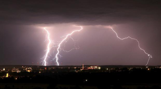 Thunderstorms and potential flooding have been forecast for large parts of the UK on Tuesday (Merzbach/AP)