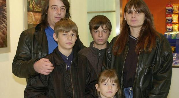 The parents of Sarah Payne, Michael and Sara, and her siblings Luke (left), Lee and Charlotte (PA)
