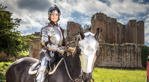 Victoria Pendleton has become English Heritage's latest jouster (Christopher Ison/English Heritage/PA)