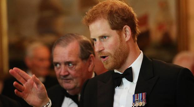 Prince Harry has praised a planned monument to recognise Royal Navy diving and mine disposal teams (Jonathan Brady/PA)