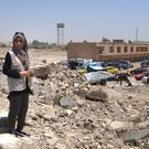 Madiha Raza, from London, in Mosul (Muslim Aid)