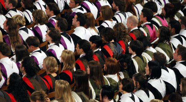 There has been a sharp rise in the number of students at Northern Ireland's universities being awarded 'firsts' - the top grade of degree classification. (David Cheskin/PA)