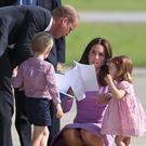 The royal family at the airport. (Jane Barlow/PA)