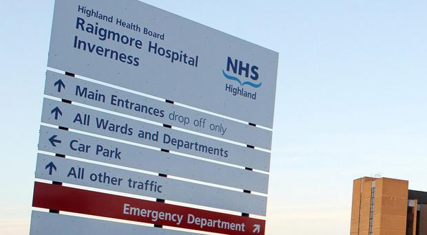 An injured hillwalker was airlifted to Raigmore Hospital in Inverness (Andrew Milligan/PA)