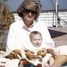 Diana, Princess of Wales and Prince Harry on the deck of the Royal Yacht Britannia (Duke of Cambridge and Prince Harry)