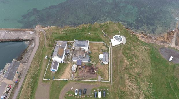 An archaeological dig at Burghead Fort uncovered a Pictish longhouse and coins dating back more than 1,000 years (University of Aberdeen/PA)