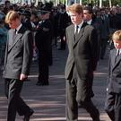 Earl Spencer (centre) during the funeral procession (Tony Harris/PA)