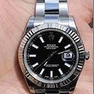 Undated handout photo of a Silver Rolex Datejust 2 2017 Rolex watch similar to the one taken from Danny Pearce as two suspects are still at large after the 31 year old was shot and stabbed to death for his watch in Greenwich, south London.