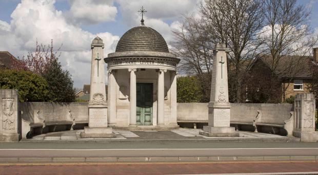 The Bedfordshire and Hertfordshire Regimental Memorial (Historic England/PA)