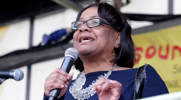 Shadow home secretary Diane Abbott (Yui Mok/PA)
