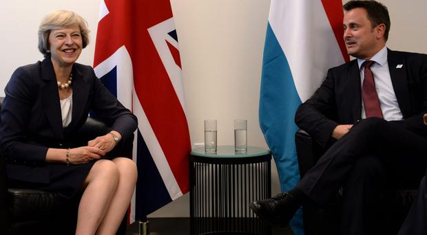 Luxembourg's Prime Minister Xavier Bettel met with Theresa May last September at the UN General Assembly (Stefan Rousseau/PA)