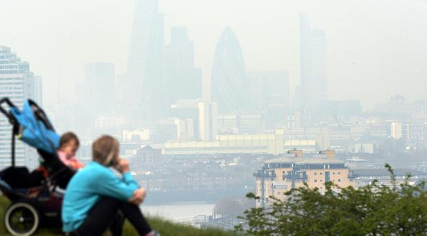 Pollution hanging over London, seen from Greenwich. Stefan Rousseau/PA