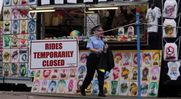 Six UK theme park rides closed after fatal accident at the Ohio State Fair (Jay LaPrete/AP)