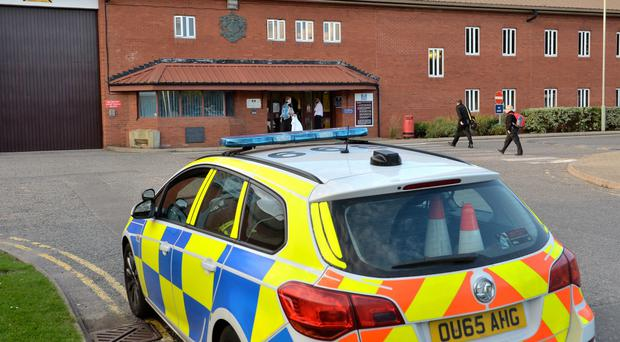 Riot police have been deployed to HMP The Mount in Hertfordshire for the second day running after inmates reportedly seized control of a wing. (John Stillwell/PA)