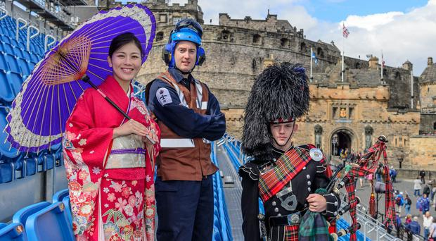Edinburgh Castle's esplanade will be transformed into an aircraft carrier flight deck as this year's Royal Edinburgh Military Tattoo puts the Royal Navy centre stage (MoD Crown Copyright/PA)