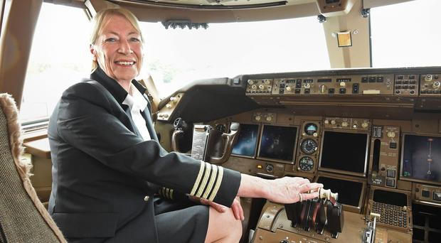 Yvonne Kershaw, the UK's first woman pilot to captain a jumbo jet, has retired (Lauren Hurley/PA)