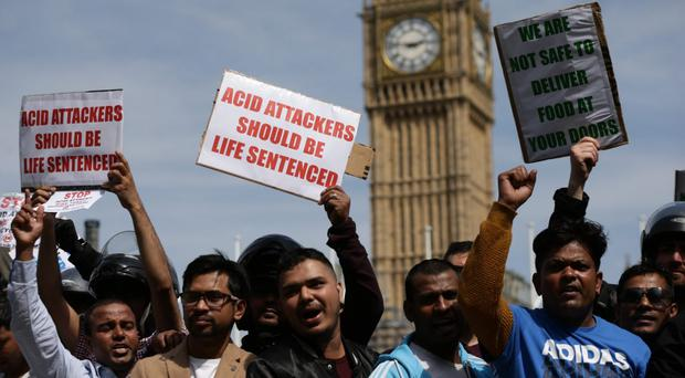 Acid attack witnesses have an important role in minimising the harm to the victim (Yui Mok/PA)