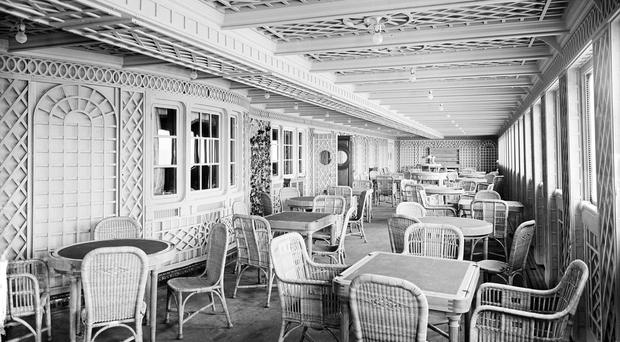 The first class Cafe Parisienne aboard the doomed Belfast-built vessel