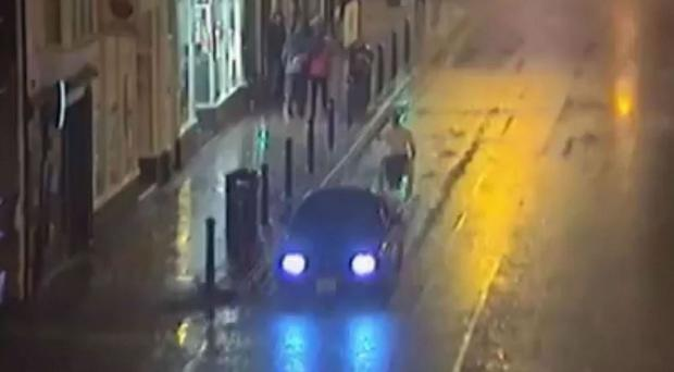 A motorist who towed a man in a wheelchair through Harrogate has been banned from driving (North Yorkshire Police/PA Wire)